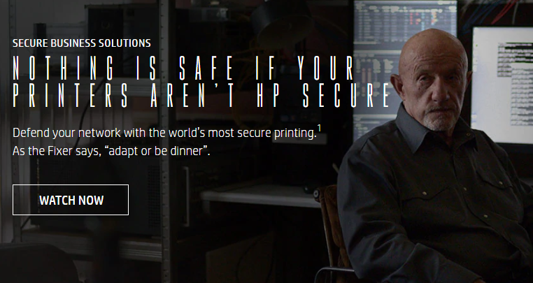"""Print Security Video Image - HP """"The Fixer"""""""